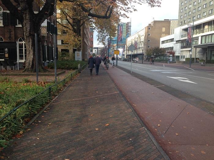 red bike lane