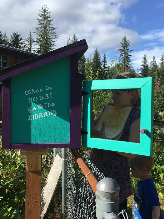Filling the Little Free Library