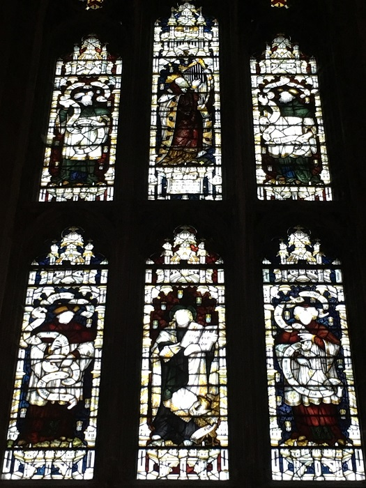 Jane Austen memorial window at Winchster Cathedral.