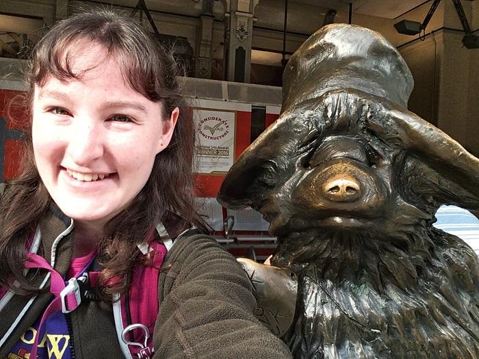Paddington Bear statue, London