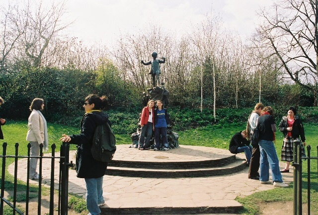 destinations inspired by literature: Musing Jo visits Peter Pan in London.