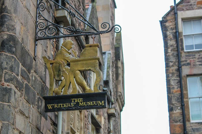 destinations inspired by literature: Blond Wayfarer visited the writer's museum in Edinburgh, Scotland.