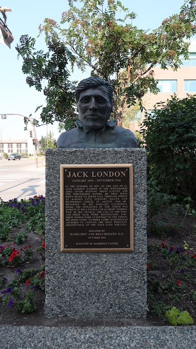 Jack London bust in Whitehorse, Yukon Territory, Canada