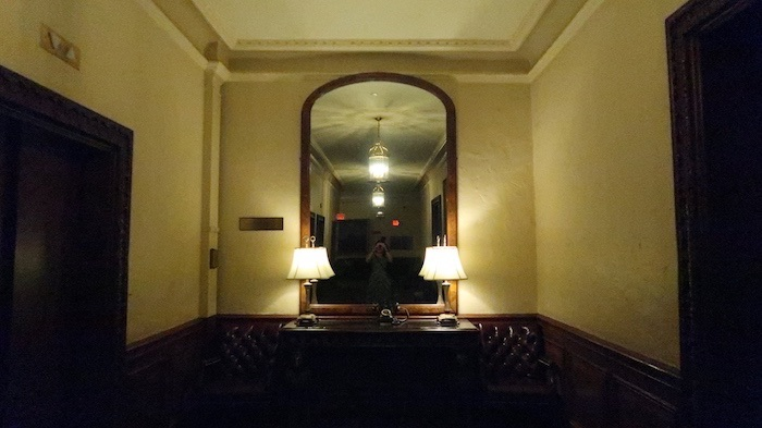 Charles Dickens mirror at the Omni Parker House hotel
