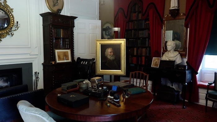 Henry Wadsworth Longfellow's study in his Cambridge home