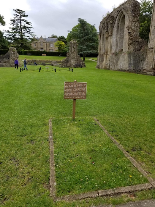 Glastonbury where King Arthur was lost