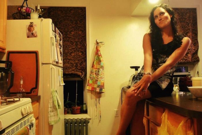 Lauren in NYC apartment