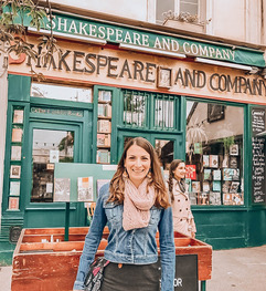 Christine at Shakespeare and Co., Paris