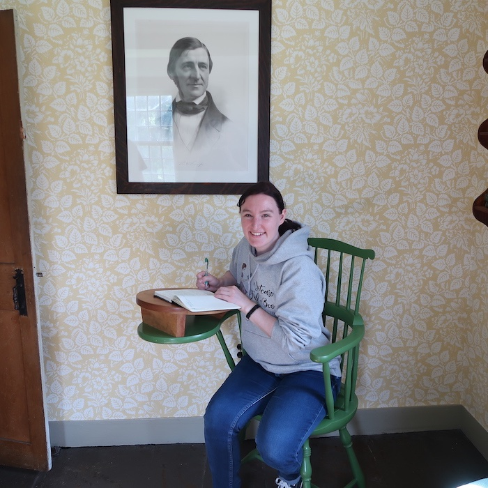 Sitting at Emerson's Desk in The Old Manse
