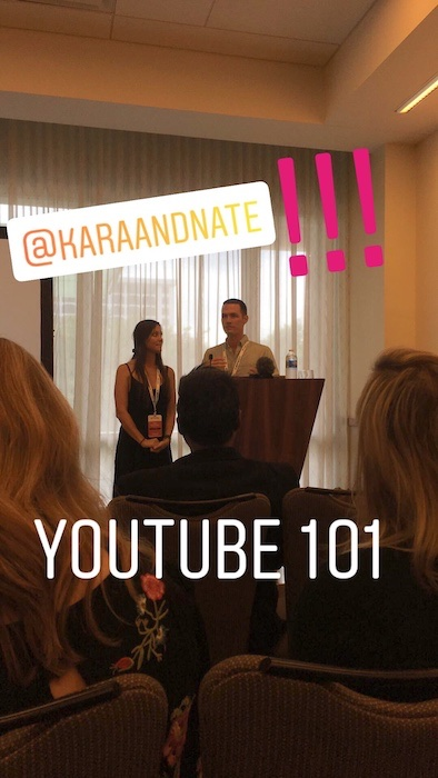 Kara and Nate at TravelCon 2018