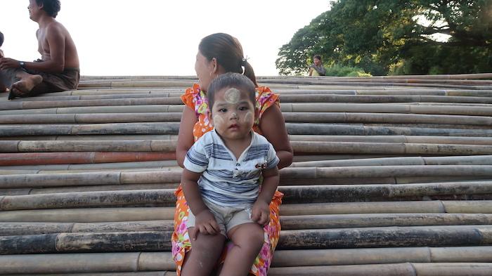 Child wearing thanaka