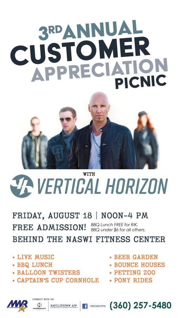 Customer Appreciation Picnic, with Special Guests Vertical Horizon