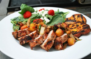Pork Tenderloin with Grilled Peach Salsa