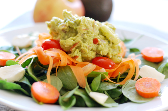 Chicken, Apple & Guacamole Salad