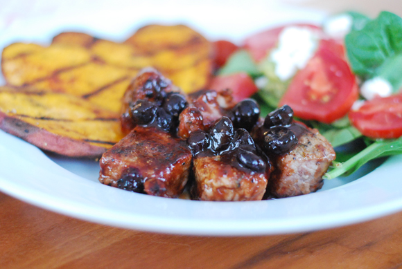 Pork Tenderloin Medallions With Blueberry BBQ