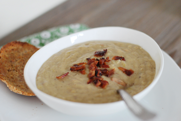Potato Leek & Roasted Cauliflower Soup