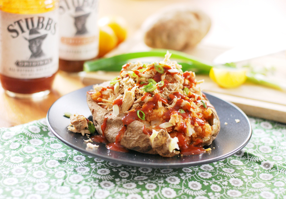 Shredded Chicken BBQ Stuffed Potato