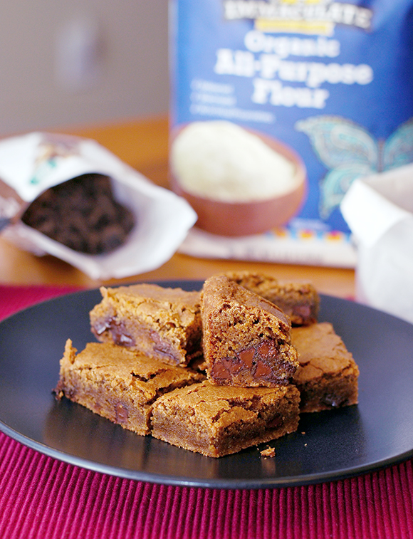 Fudgy Espresso Blondie Brownies