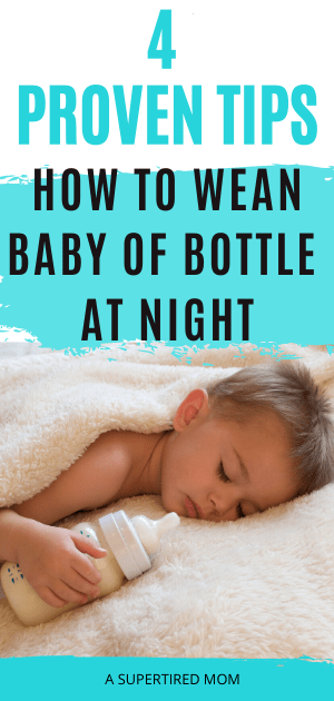 how to wean baby off bottle at night pin