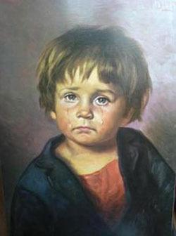 Los cuadros de los niños llorosos