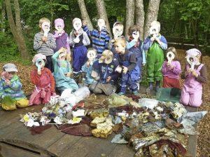 Waldkindergartenkinder