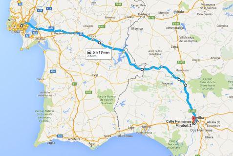 Dia 1: Lisboa » Sevilha - 396km