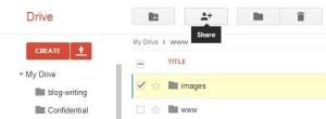 share button in drive