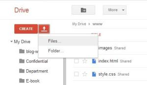 upload file to google drive