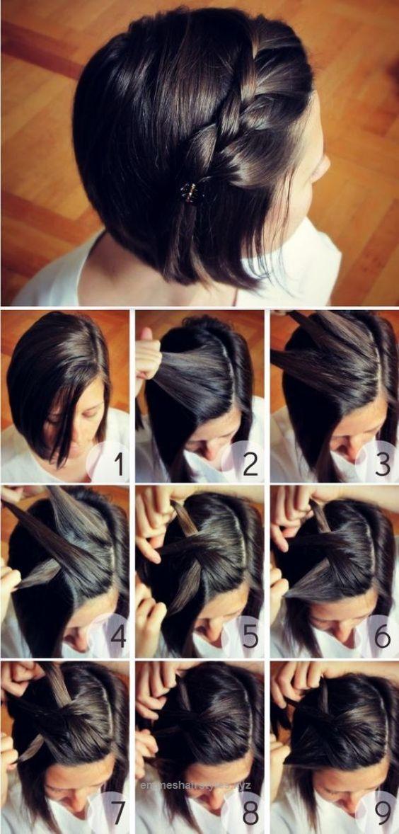 fishtail braid for short hair