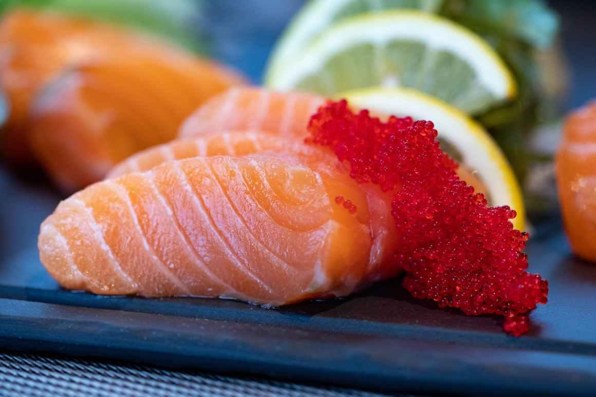close up photo of sliced salmon