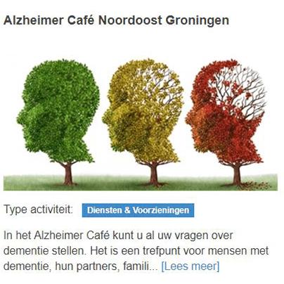 Alzheimer cafe noordoost groningen