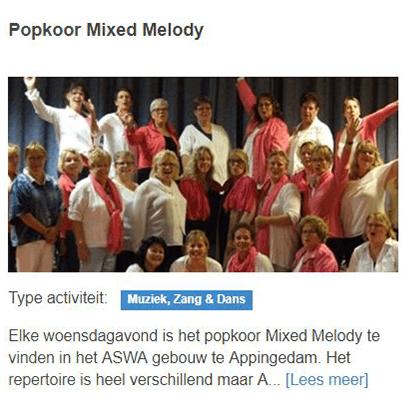 Popkoor mixed melody