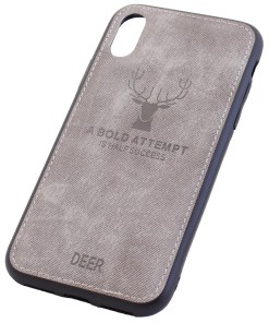 iPhone XS Deer Leather Cover Case