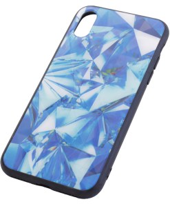 iPhone X Crystal Blue Cover Case