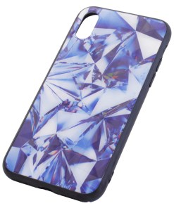 iPhone X Crystal Purple Cover Case