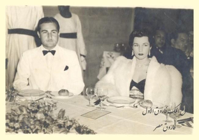 الأميرة فوزية وزوجها الثانى اسماعيل شيرين