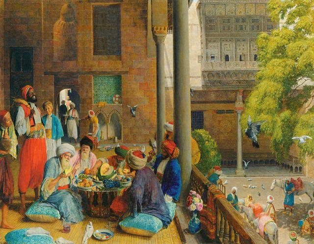 لوحة جون فردريك، وجبة الغذاء في القاهرة