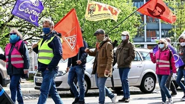 مسيرات عيد العمال في ألمانيا على الرغم من كورونا