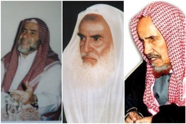 الشيخ عبد العزيز بن باز والشيخ عبد الله علوان والشيخ محمد بن صالح بن عثيمين