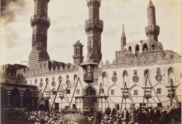 صورة للجامع الازهر الشريف في أواخر القرن التاسع عشر