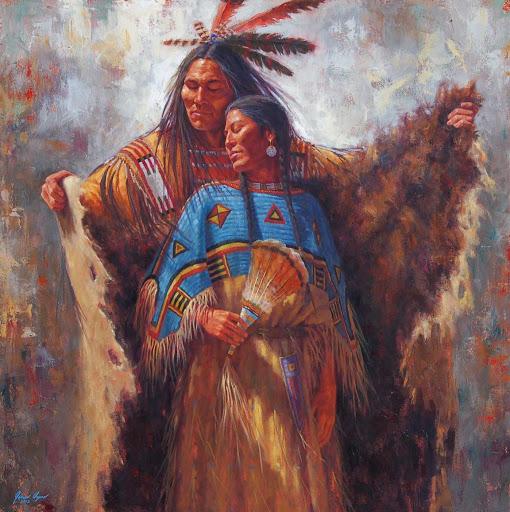 الحب عند الهنود الحمر
