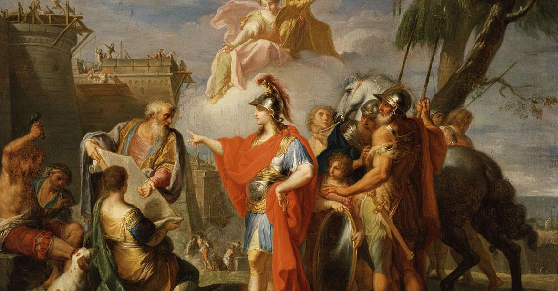 لوحة الإسكندر الأكبر يُنشئ الإسكندرية للرسام بلاسيدو كوستانزي