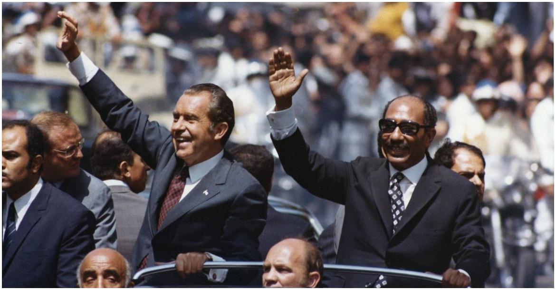 السادات ونيكسون في القاهرة