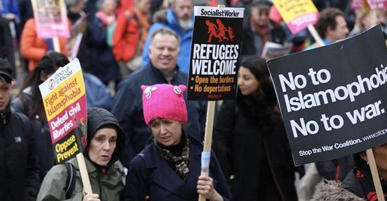 مظاهرات ضد الإسلاموفوبيا في أمريكا