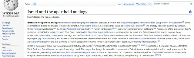 Israel and the Apartheid Analogy