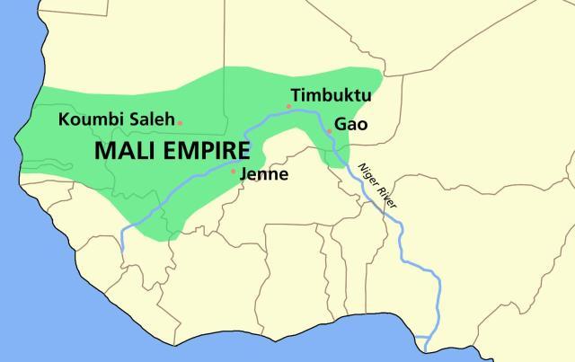 خريطة إمبراطورية مالي