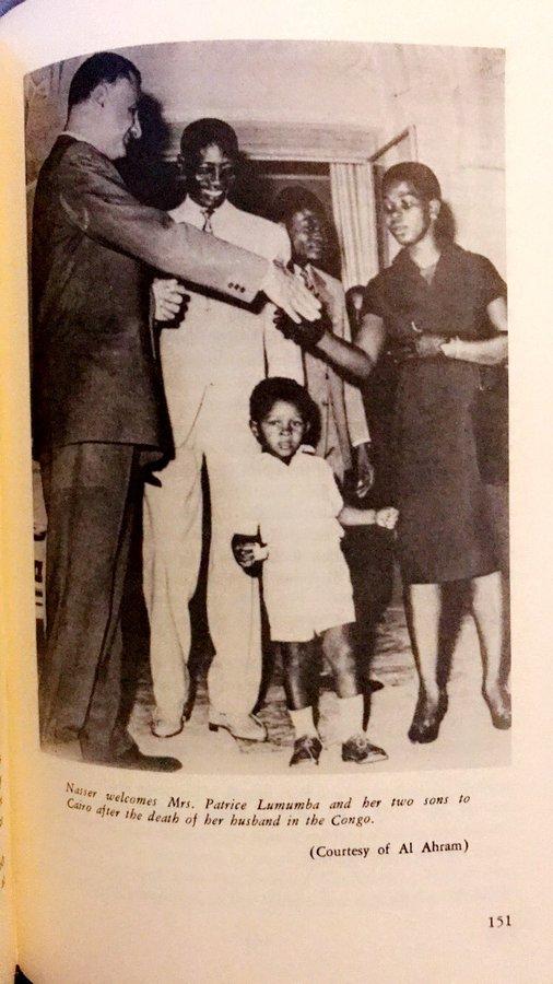 ناصر مع أسرة لومومبا