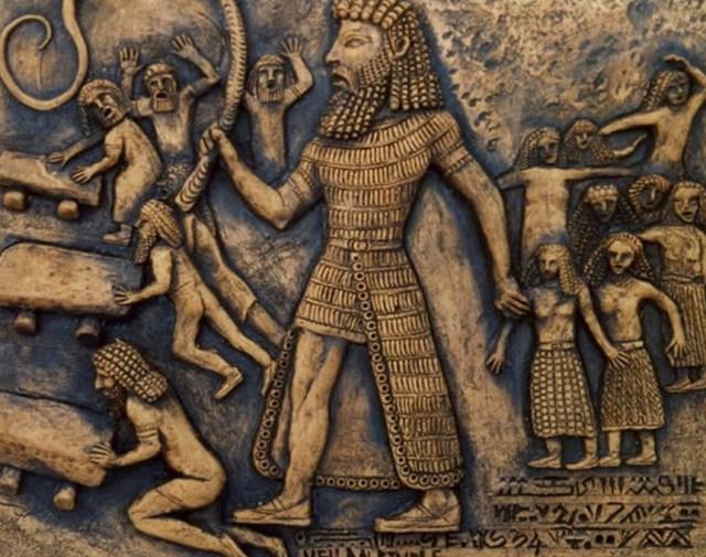 جدارية عن ملحمة جلجامش