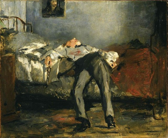 لوحة انتحار لـ إدوارد مانيه