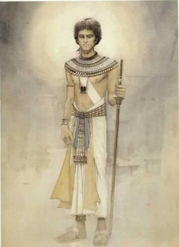 رسم لمحمد صبحي بشخصية إخناتون